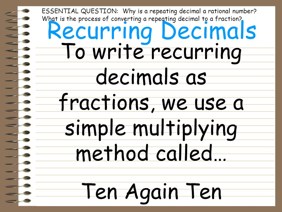 math worksheet : converting recurring decimals to fractions worksheet with answers  : Converting Repeating Decimals To Fractions Worksheets