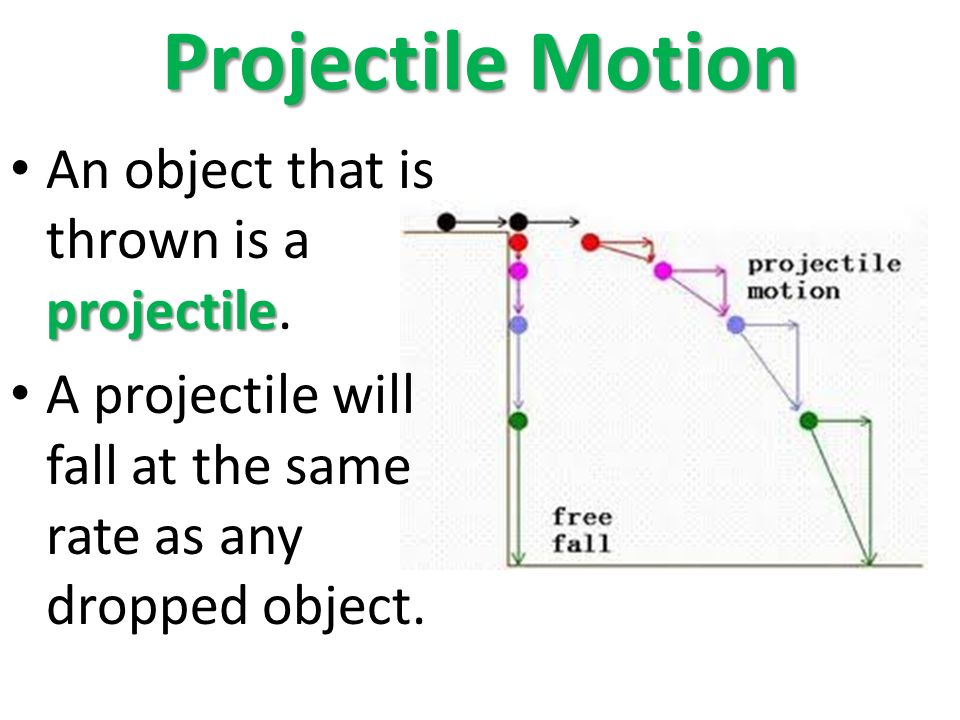 Projectile Motion projectile An object that is thrown is a projectile.