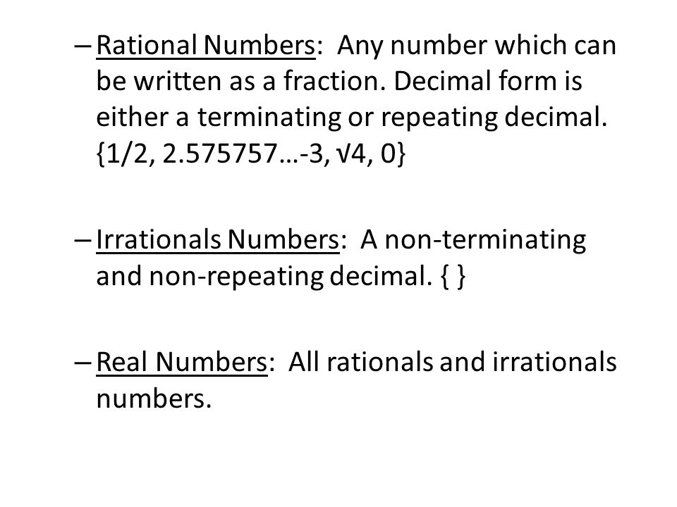 1.2 Properties of Real Numbers. Sets Of Numbers – Naturals Numbers ...