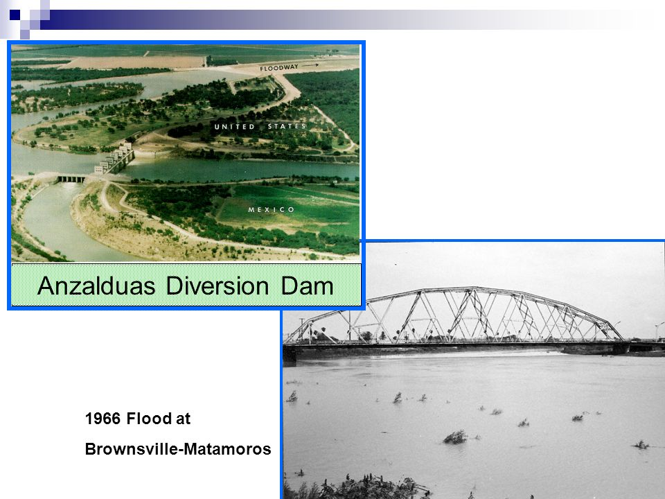 1966 Flood at Brownsville-Matamoros Anzalduas Diversion Dam