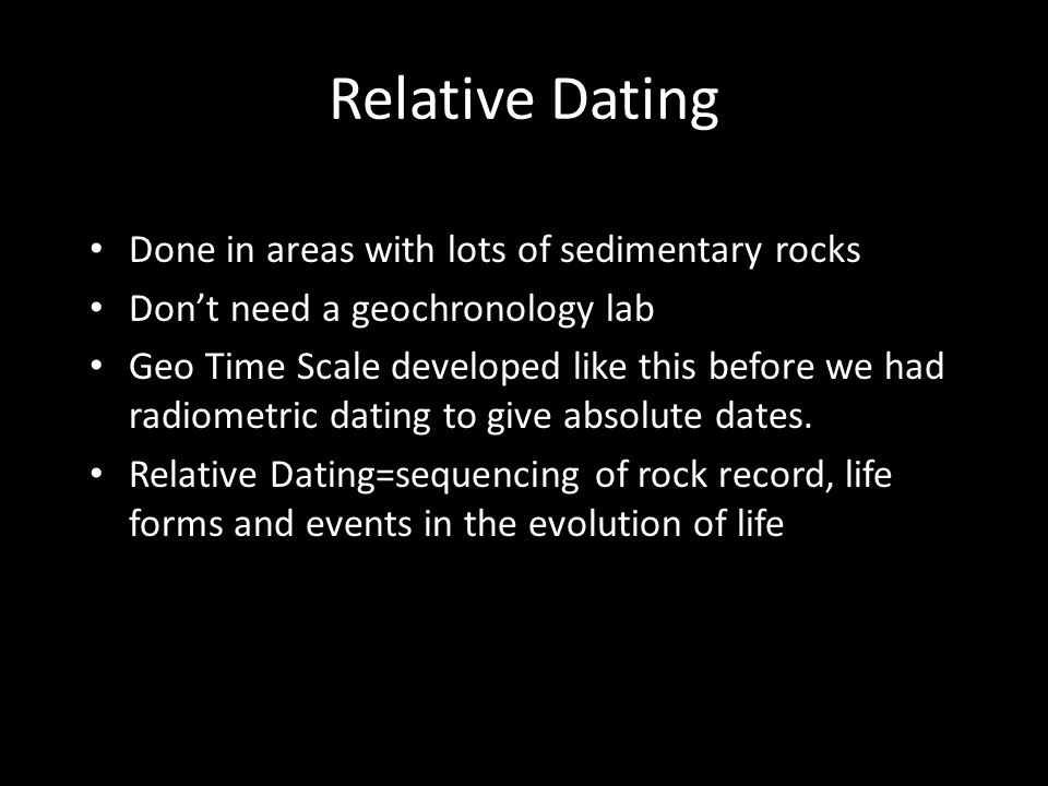 Absolute dating sedimentary rocks