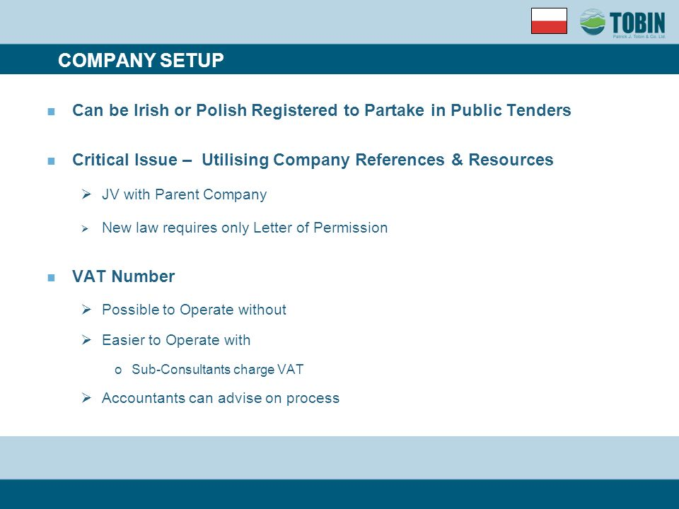 Tendering In Poland INTRODUCTION Company Setup Project