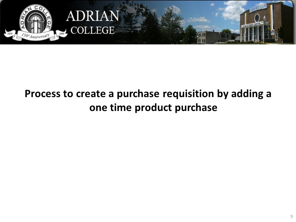 Blackbaud Web Purchasing Process to create a purchase requisition by adding a one time product purchase 9