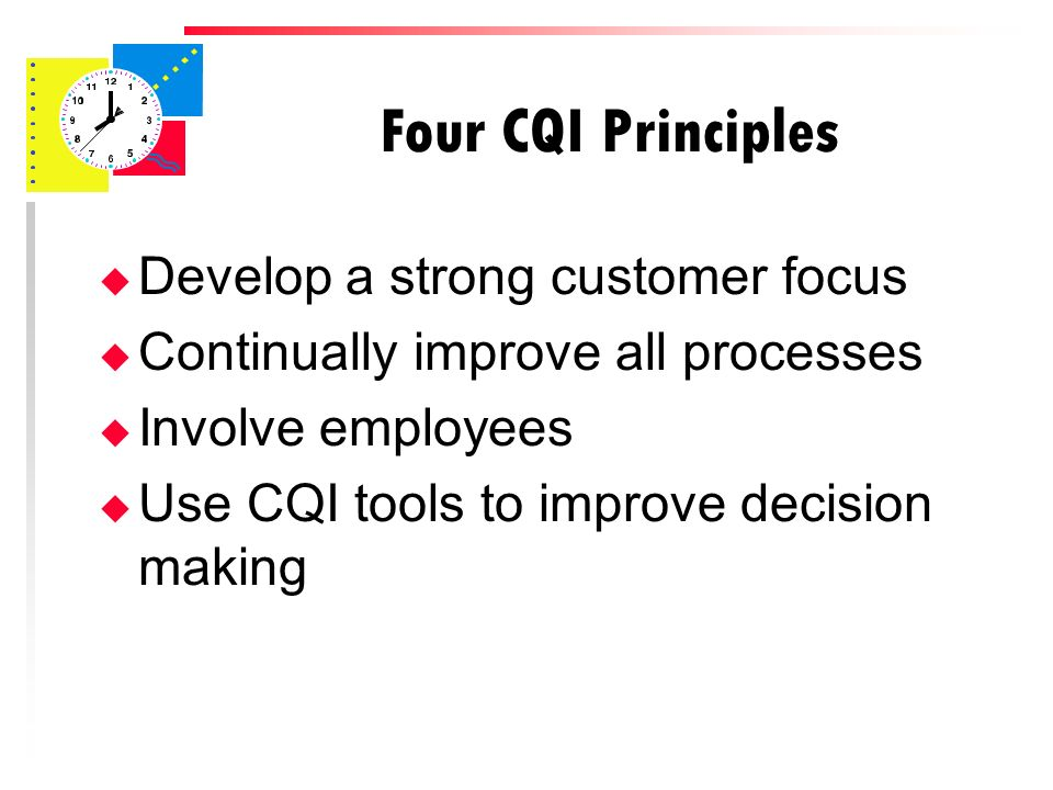 customer focus in tqm Total quality management: three case studies from around the by integrating a system of total quality management it's possible to have customer focus.