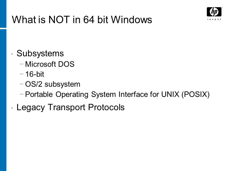 16 bit windows subsystem:
