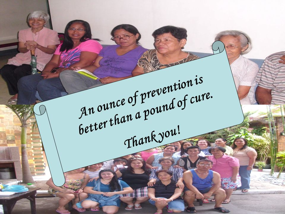 An ounce of prevention is better than a pound of cure. Thank you!