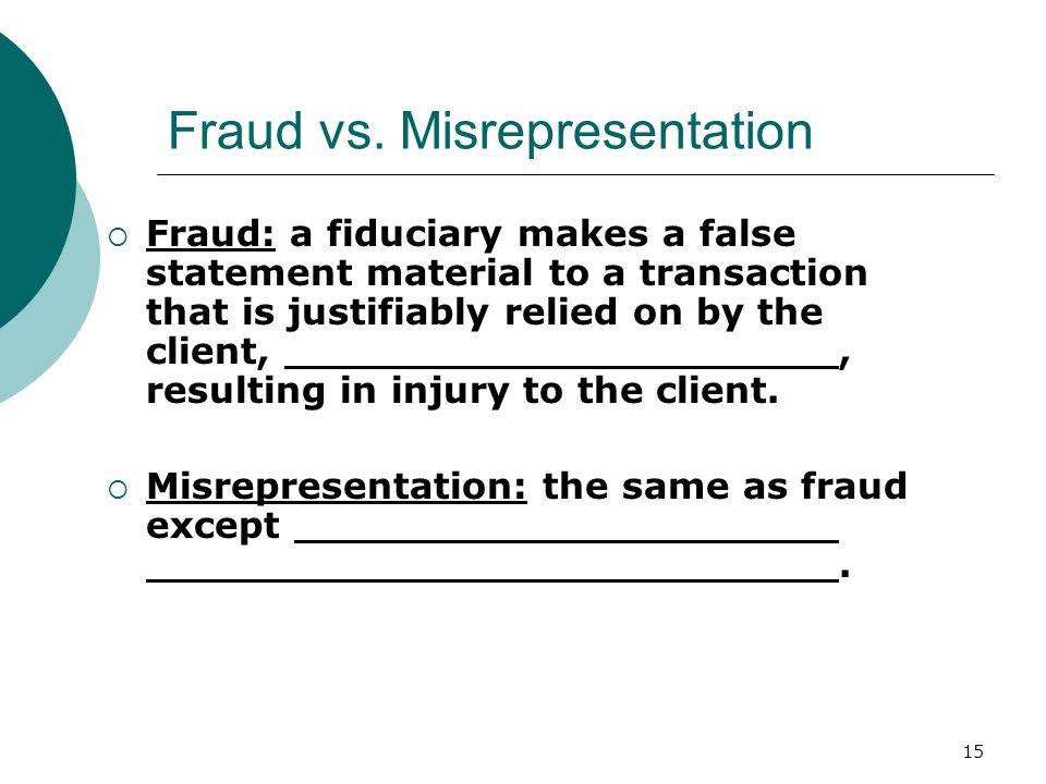 15 Fraud vs.