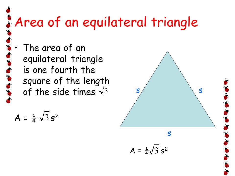 Equation for surface area of an equilateral triangle jennarocca equation for finding area of an equilateral triangle jennarocca ccuart Choice Image