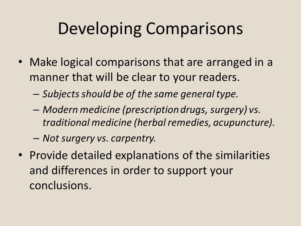 comparison contrast essay comparison contrast comparison 4 developing comparisons