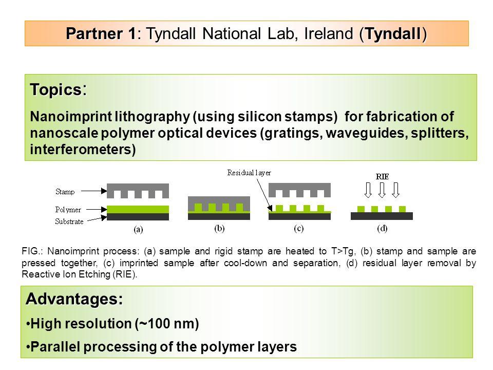 partner tyndall national lab tyndall topics  1 partner