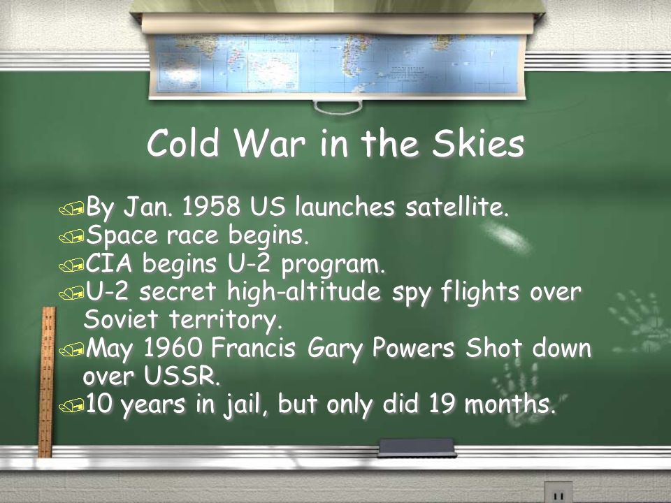 Cold War in the Skies / By Jan US launches satellite.