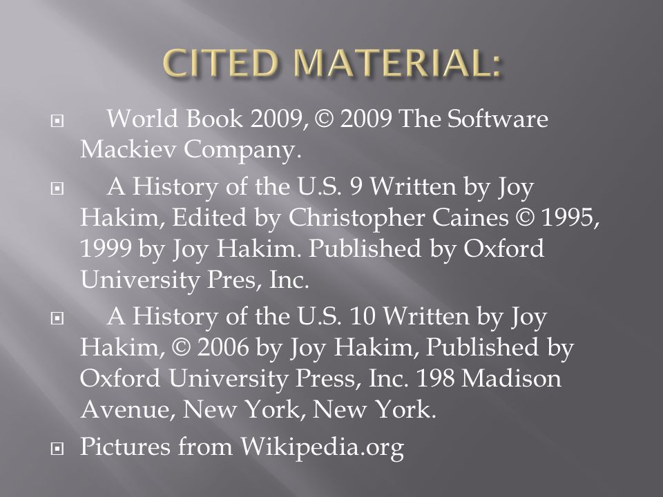  World Book 2009, © 2009 The Software Mackiev Company.