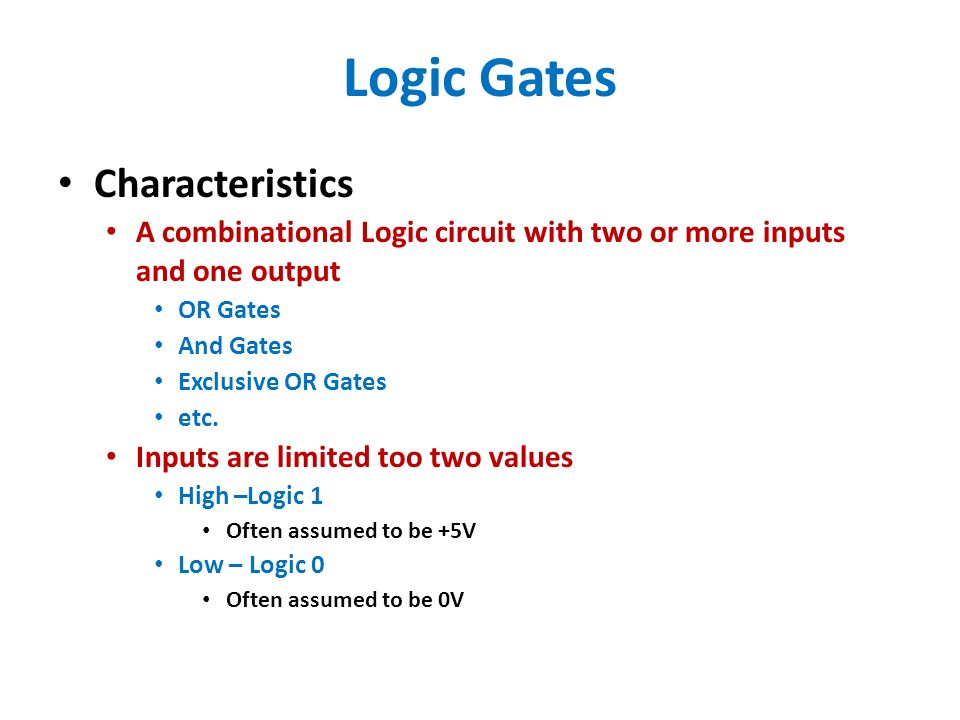 high logic gates