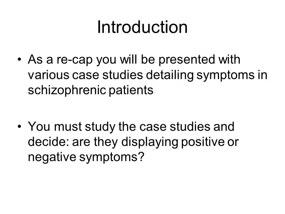 case studies of schizophrenia patients