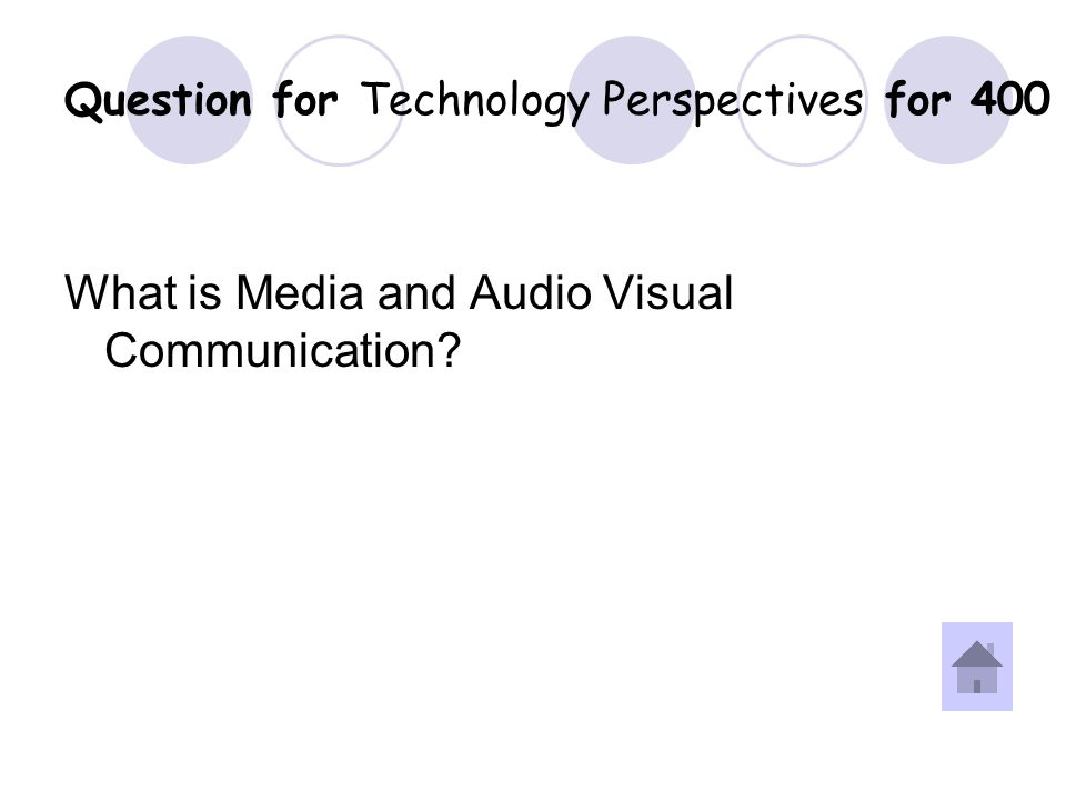 Answer for Technology Perspectives for 400 Question.