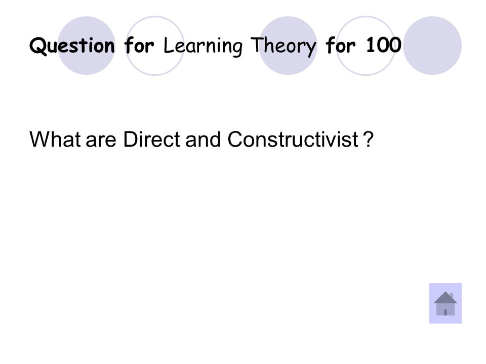 Answer for Learning Theory for 100 Question.