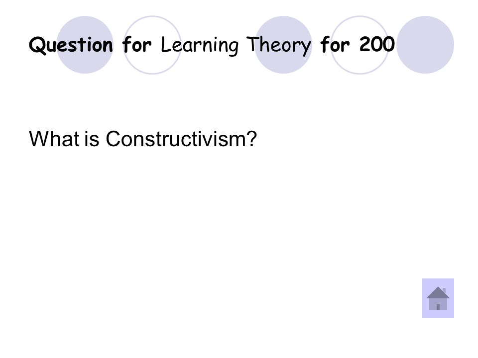 Answer for Learning Theory for 200 Question.