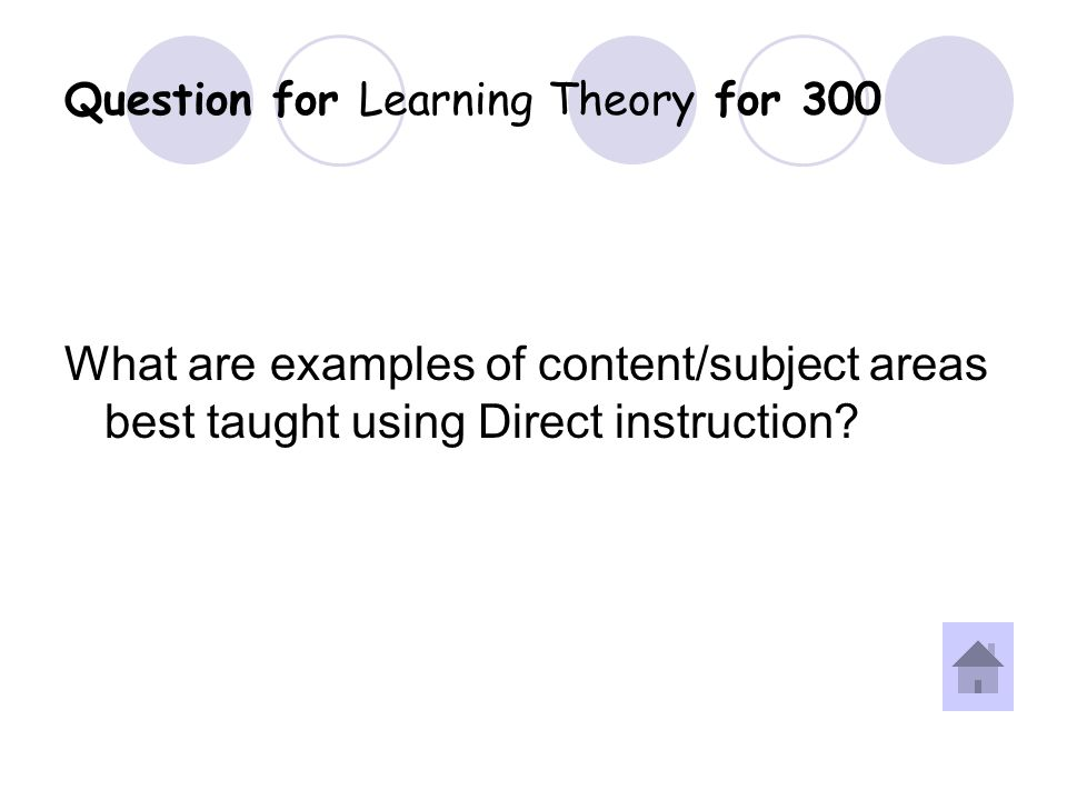 Answer for Learning Theory for 300 Question.