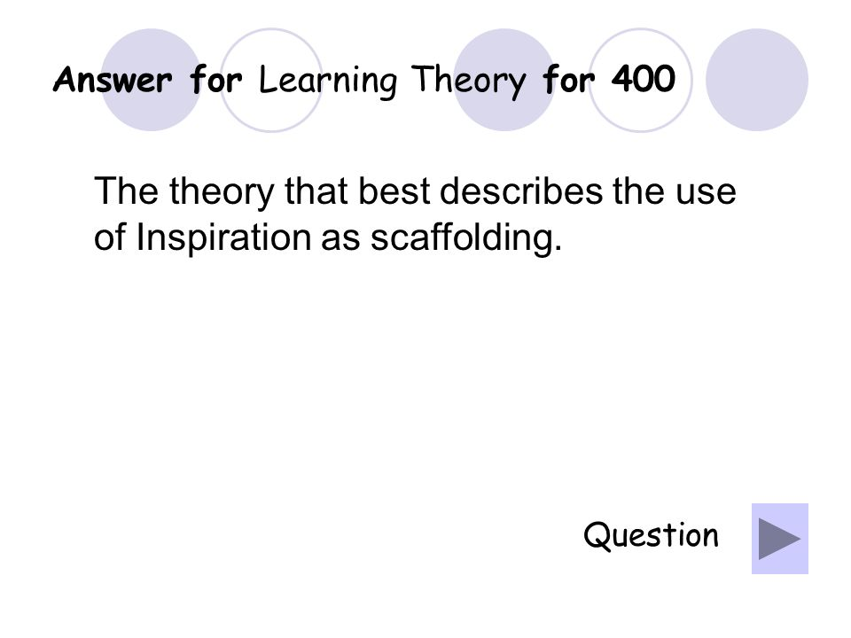Question for Learning Theory for 300 What are examples of content/subject areas best taught using Direct instruction