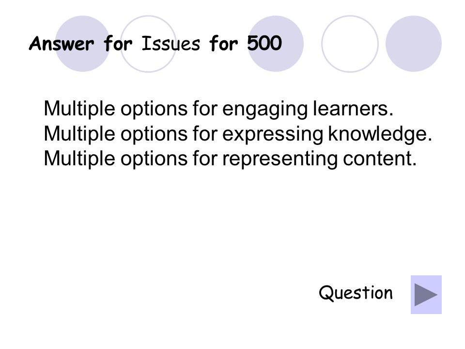 Question for Issues for 400 What is analyzing student needs