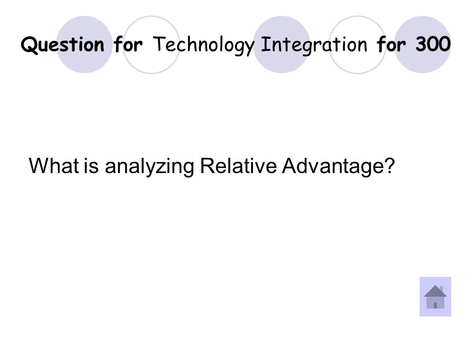 Answer for Technology Integration for 300 Question.