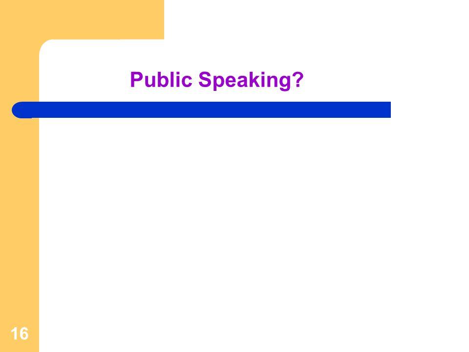 16 Public Speaking