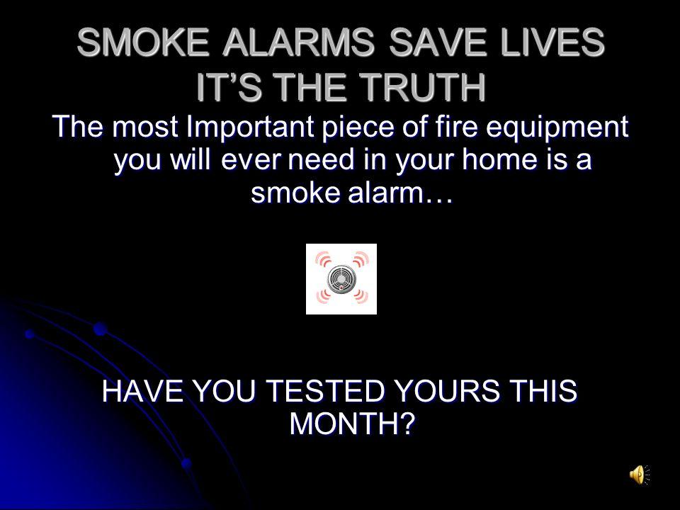 smoke detectors save lifes