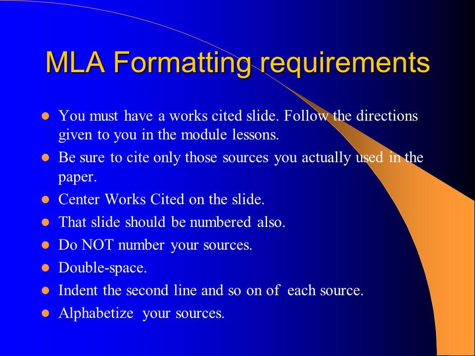 mla format powerpoint