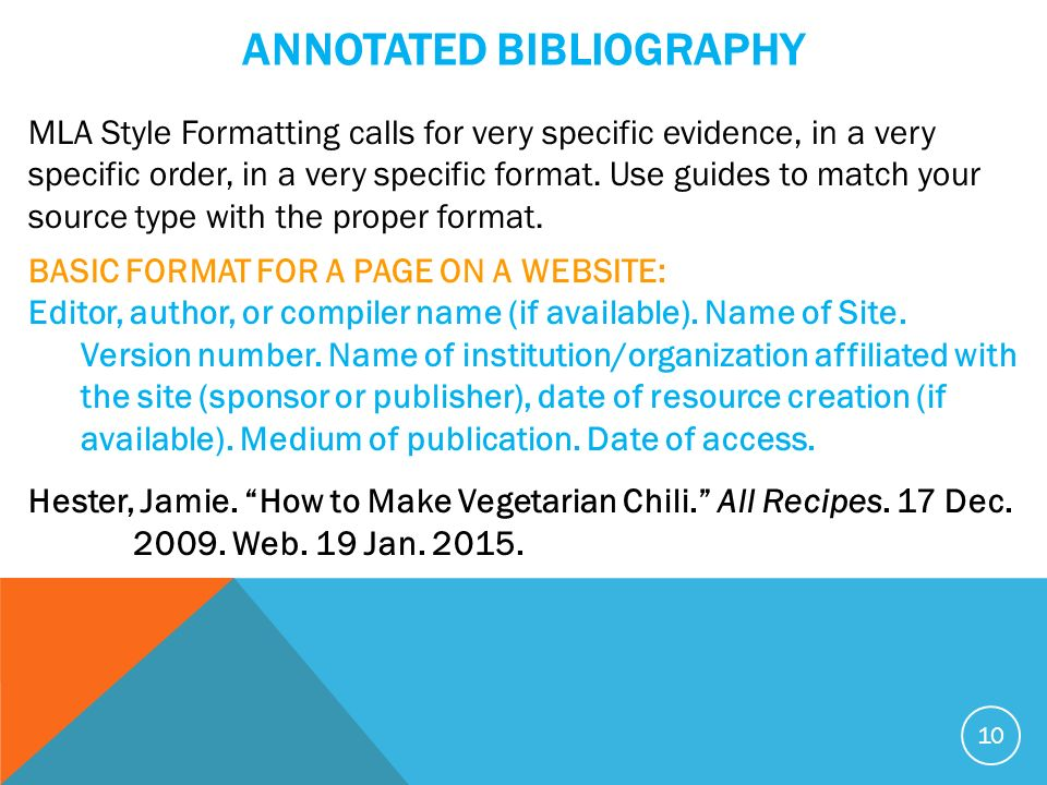 annotated bibliography mla style template