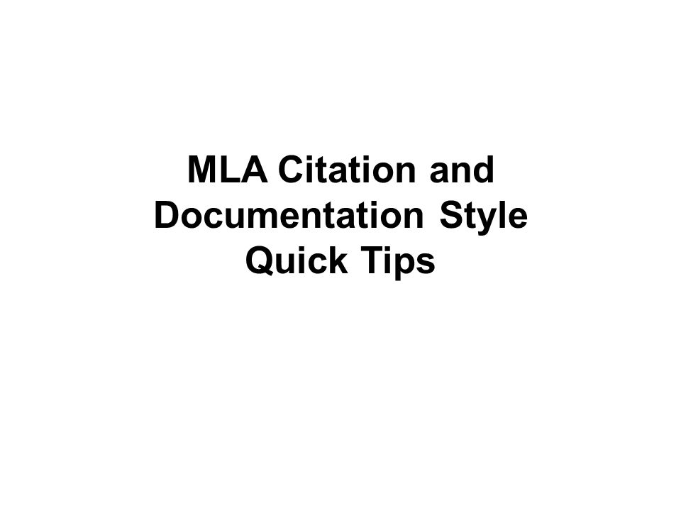 Quick: How to cite an online article in an essay (MLA)?