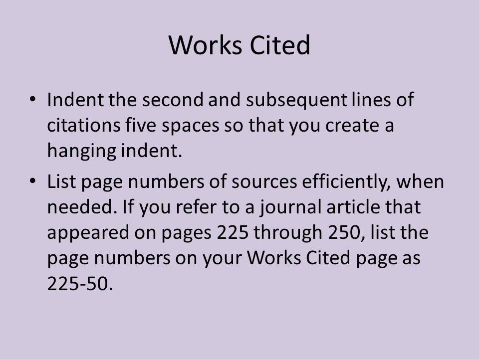 Citations and Works Cited?