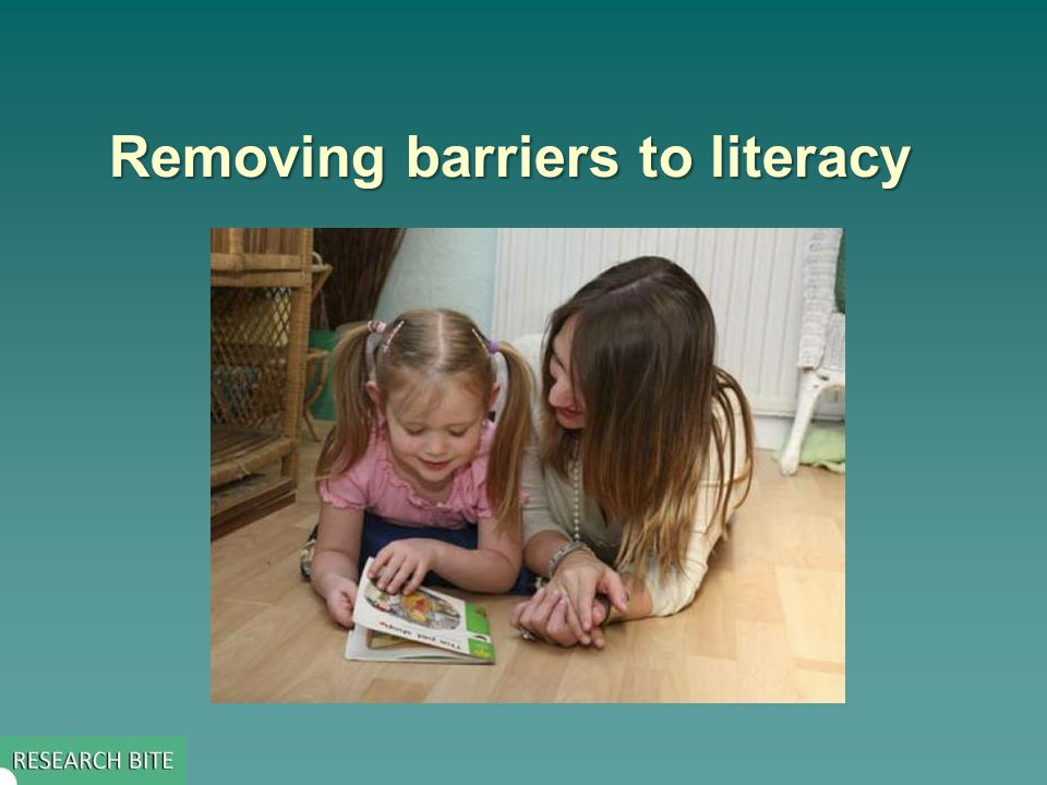 Removing barriers to literacy