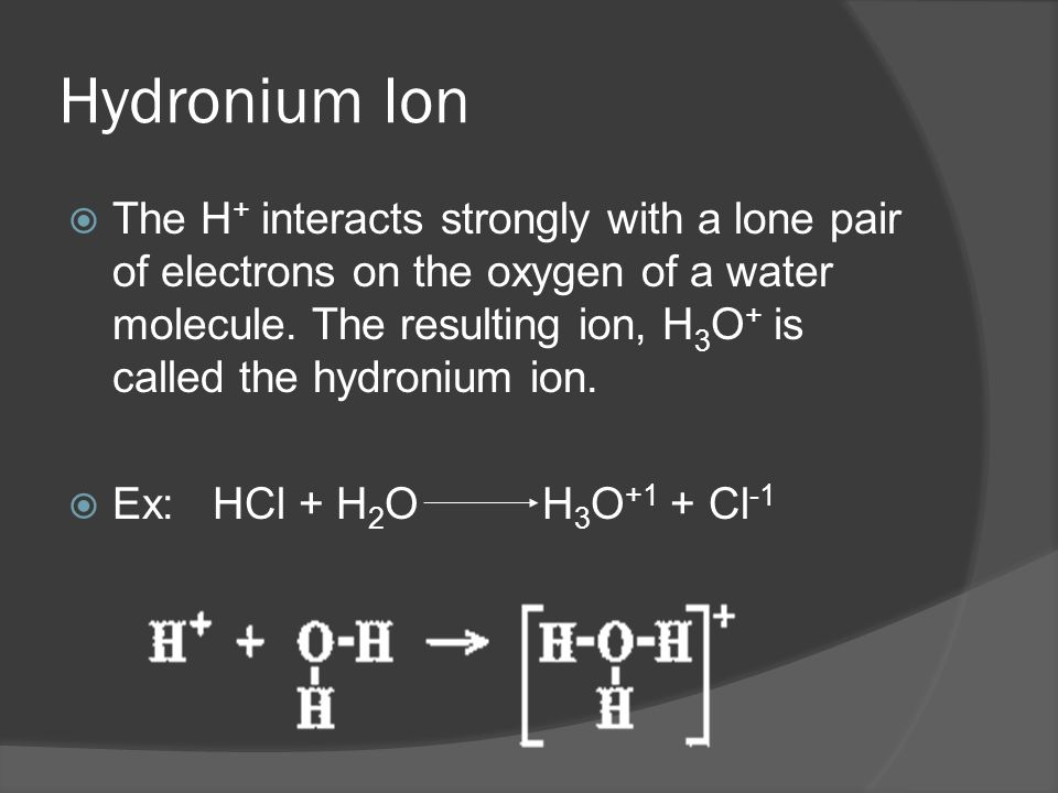 Arrhenius' Theory on Acids and Bases Arrhenius Acid  Definition: a substance that ionizes in water to give hydrogen ions (proton) or a Hydronium ion: H + or H 3 O+  Ex: Hydrochloric acid, HCl (a strong acid).