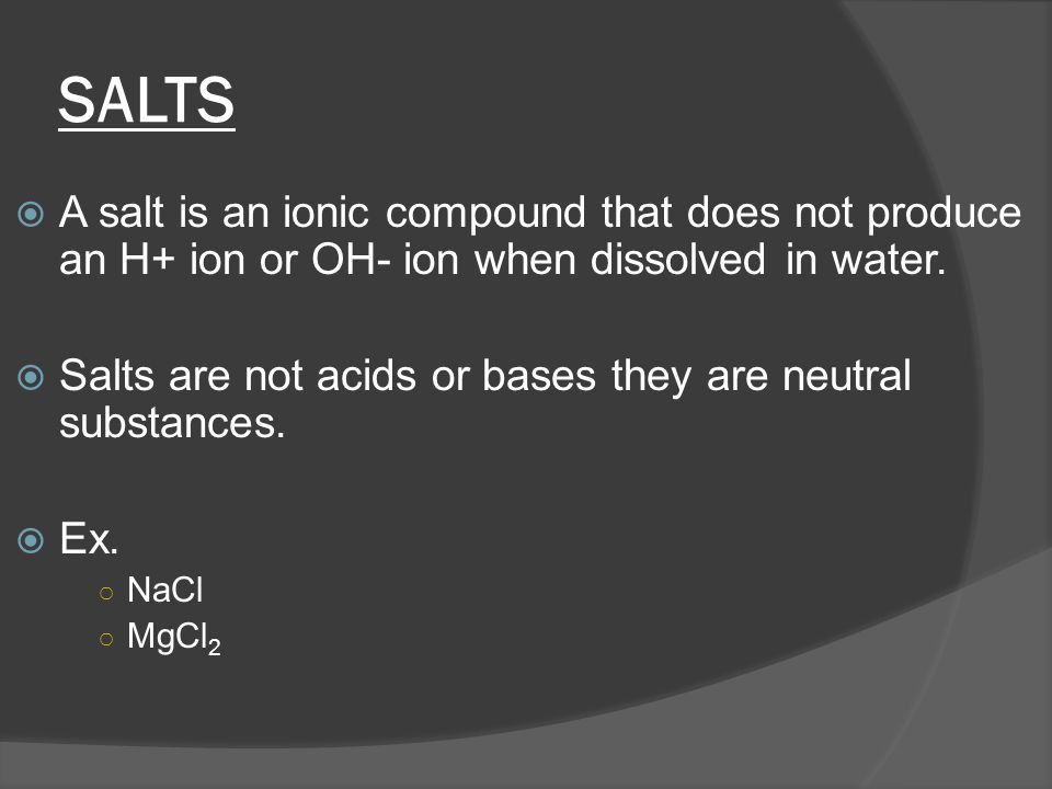 Arrhenius' Bases  Definition: a substance that ionizes in water to give hydroxide ions: OH-  Example: NaOH, NH 3 NaOH (s)  Na+(aq) + OH - (aq) NH 3 + H 2 O  NH OH -