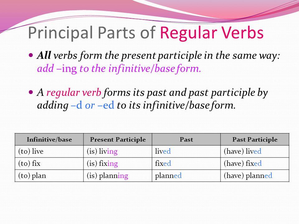Printable Worksheets principal parts of regular verbs worksheets : Verbs– principal parts of verbs and tenses. April 19, 2012 Get ...