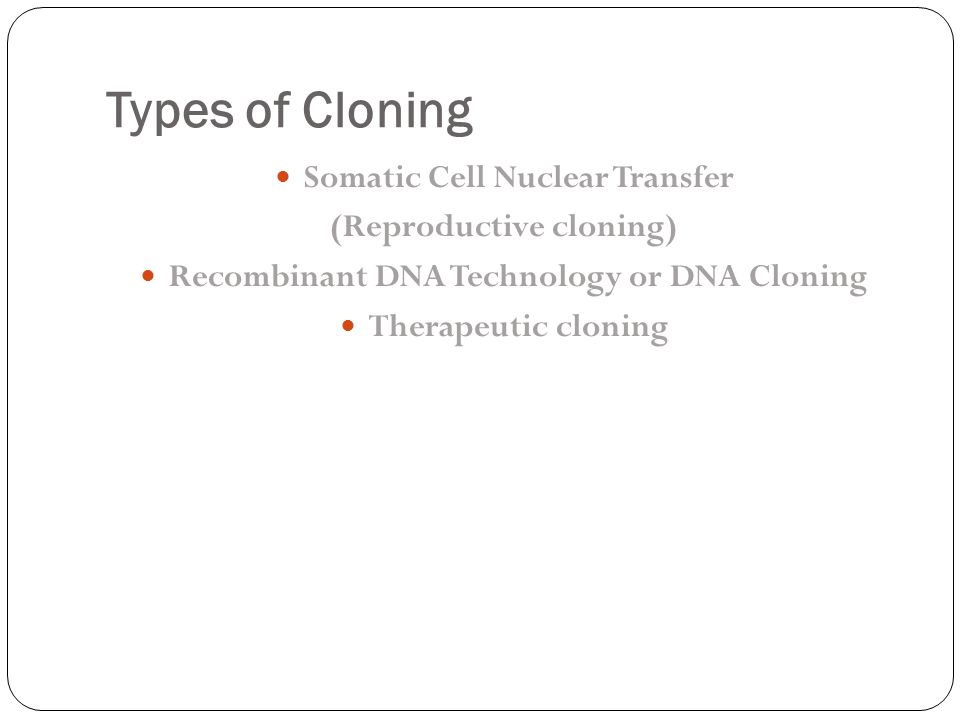 thesis statement on cloning Cloning for most of the people is cloning playing god print or whether it is the simple and elegant statement that the dignity of man is sacrosanct, the.