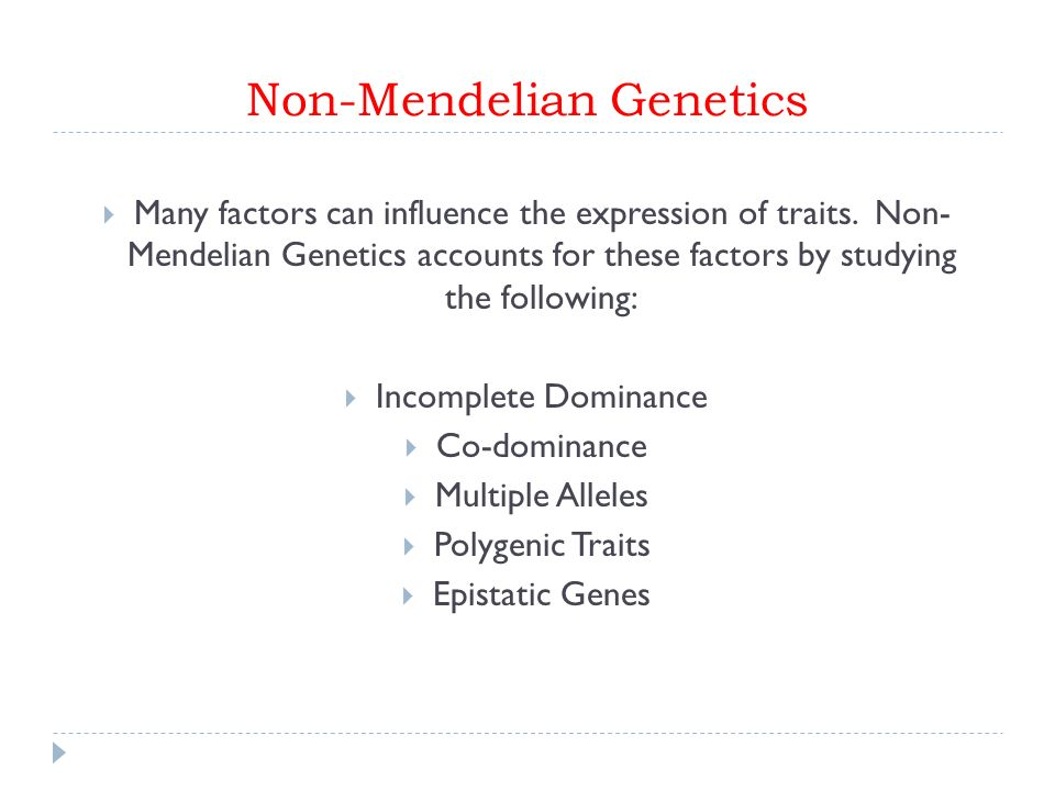 Chromosomal MutationsAbnormalities Describe processes that can – Non Mendelian Genetics Worksheet