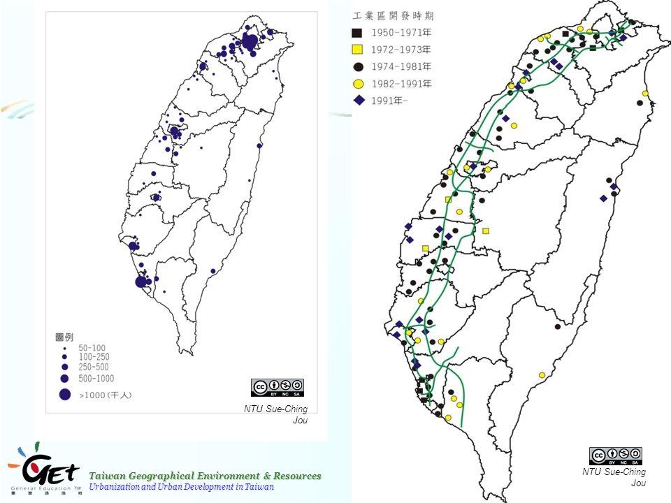 Taiwan Geographical Environment & Resources Urbanization and Urban Development in Taiwan 19 NTU Sue-Ching Jou