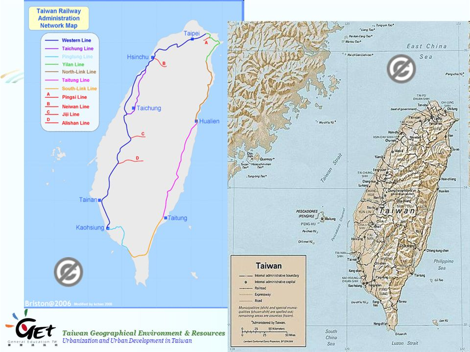 Taiwan Geographical Environment & Resources Urbanization and Urban Development in Taiwan 8