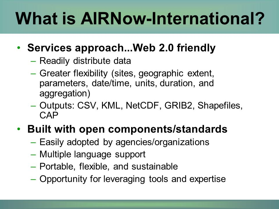 What is AIRNow-International.