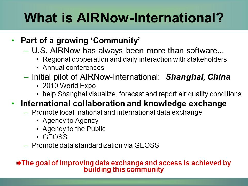 Part of a growing 'Community' –U.S. AIRNow has always been more than software...