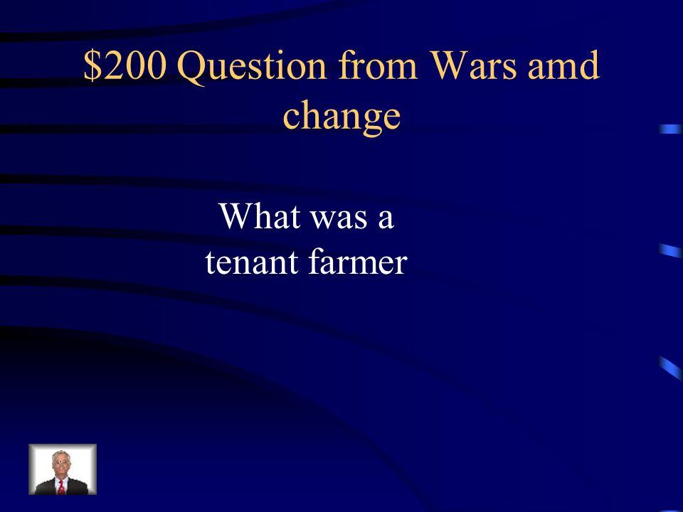 $100 Answer from Wars Urban II