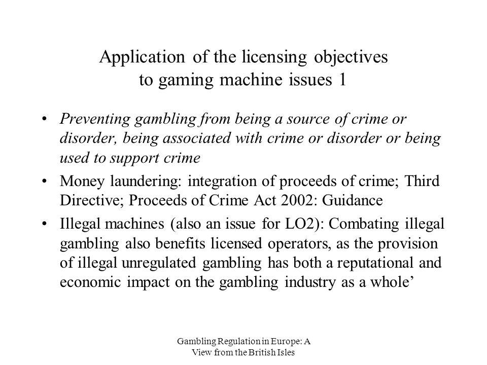 Gambling licensing objectives mohegan casino pa