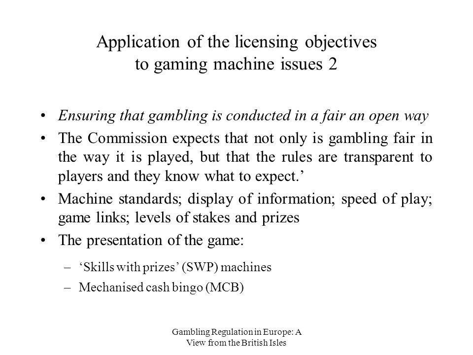 Gambling licensing objectives net gambling income