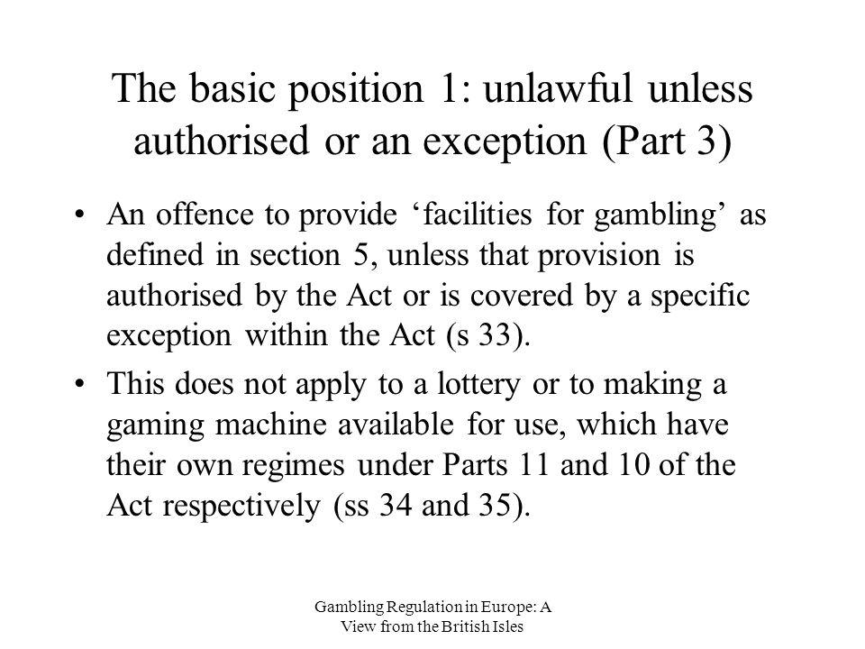 Providing facilities for gambling joyland casino pop up