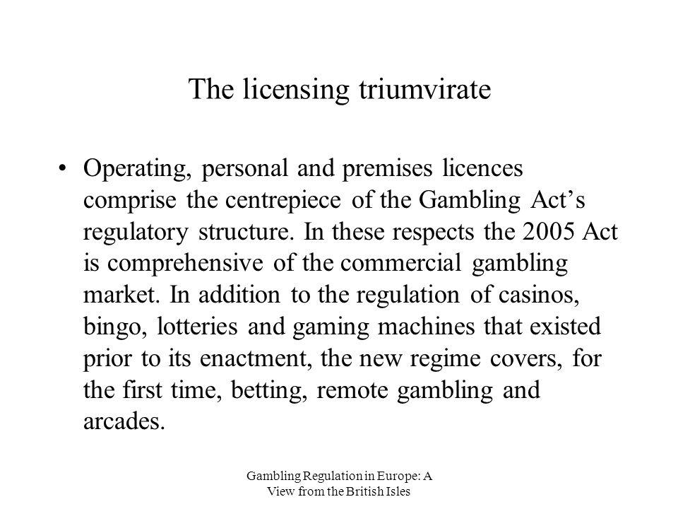 Gambling regulation act types of gambling in casinos