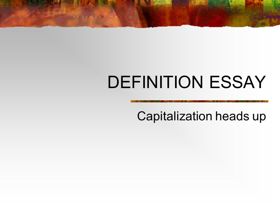 definition essay capitalization heads up medieval capitalization  1 definition essay capitalization heads up