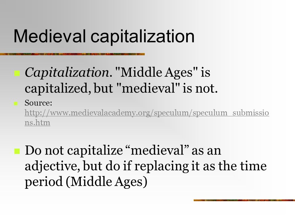 definition essay capitalization heads up medieval capitalization  2 medieval capitalization capitalization