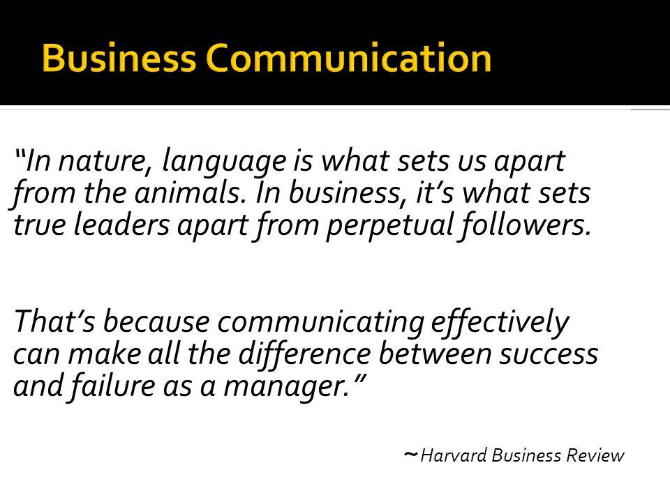 effective communication harvard