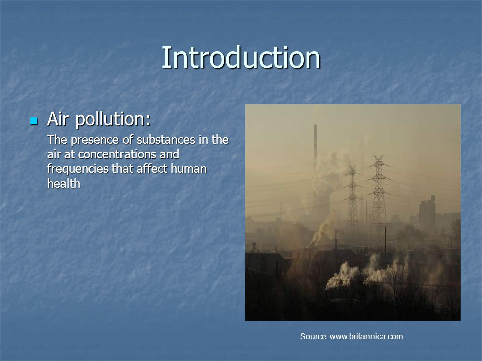 an introduction to the clean air act The economics of the clean air act march 2013 introduction | the clean air act is the comprehensive federal law that regulates air emissions from stationary and.